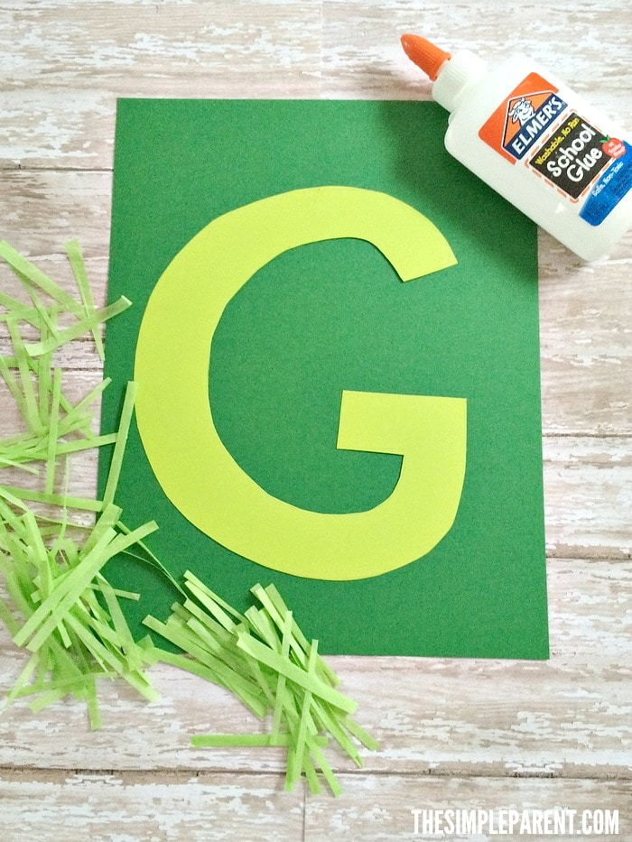Alphabet craft ideas are a great way to get hands on with your kids! Make our G is for Grass craft with your kids!