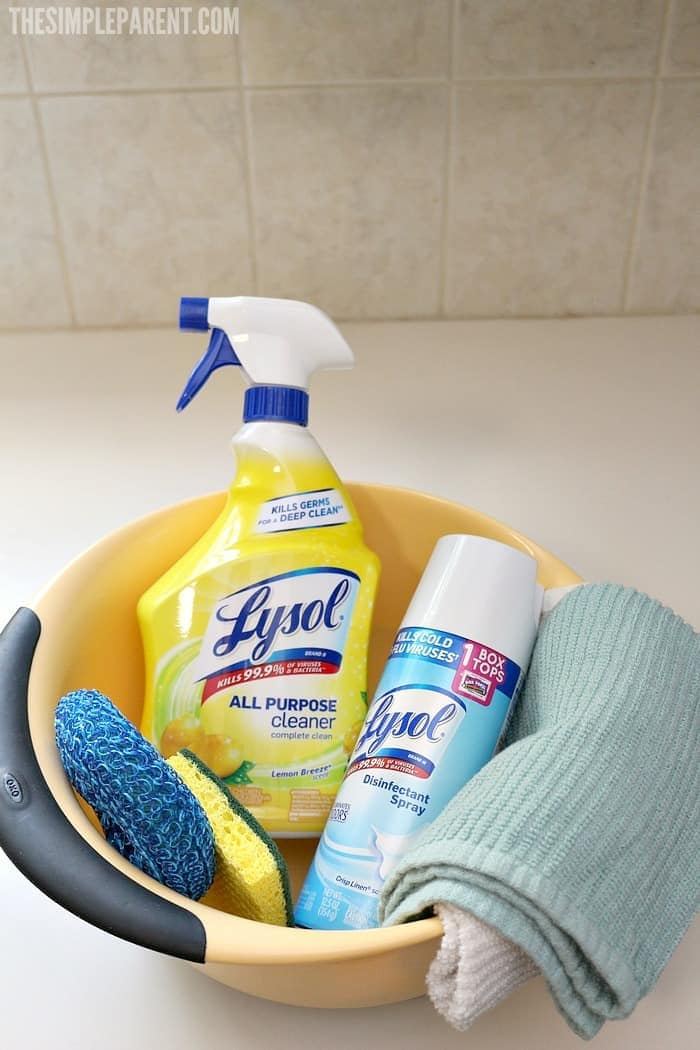 Stock up on your essential cleaning supplies so you're ready to tackle your busy mom house cleaning schedule each day!