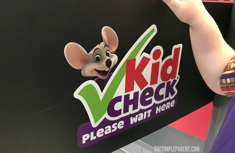 Chuck E. Cheese offers Kid Check to make sure our kids are playing safely! No one leaves with the wrong family!