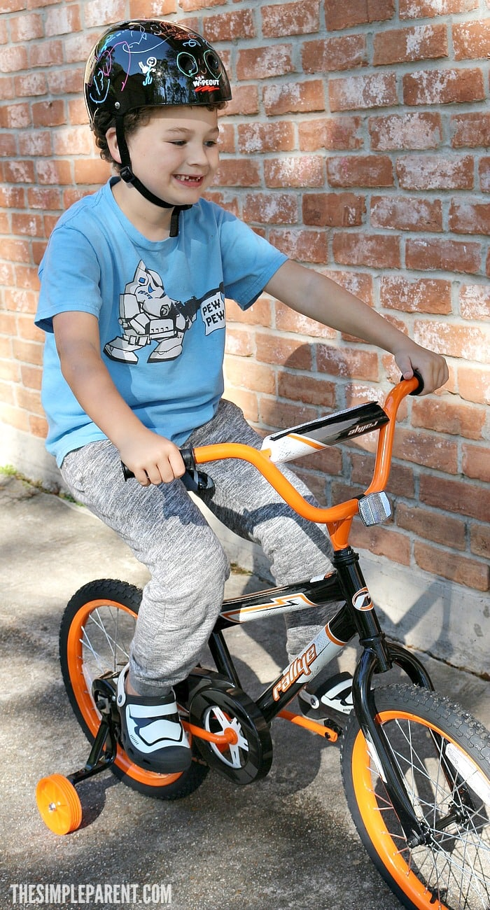A design your own bike helmet kit can help get kids excited about learning how to ride a bike!