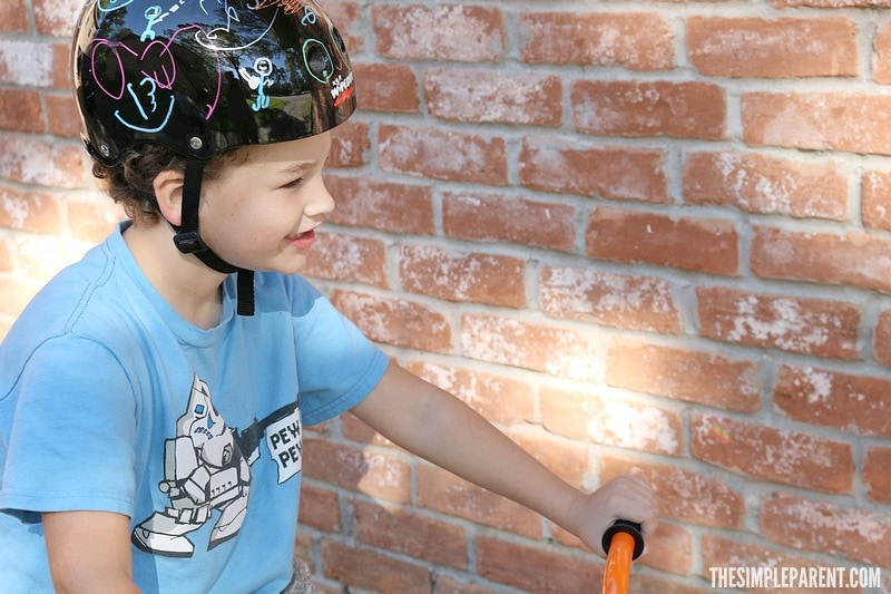 Encourage your kids to get outside and ride with a design your own bike helmet set!