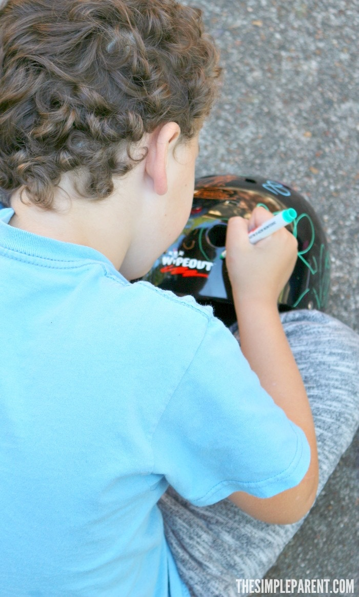 Design your own bike helmet and show your style while out on your bike! Or let your kids do it!
