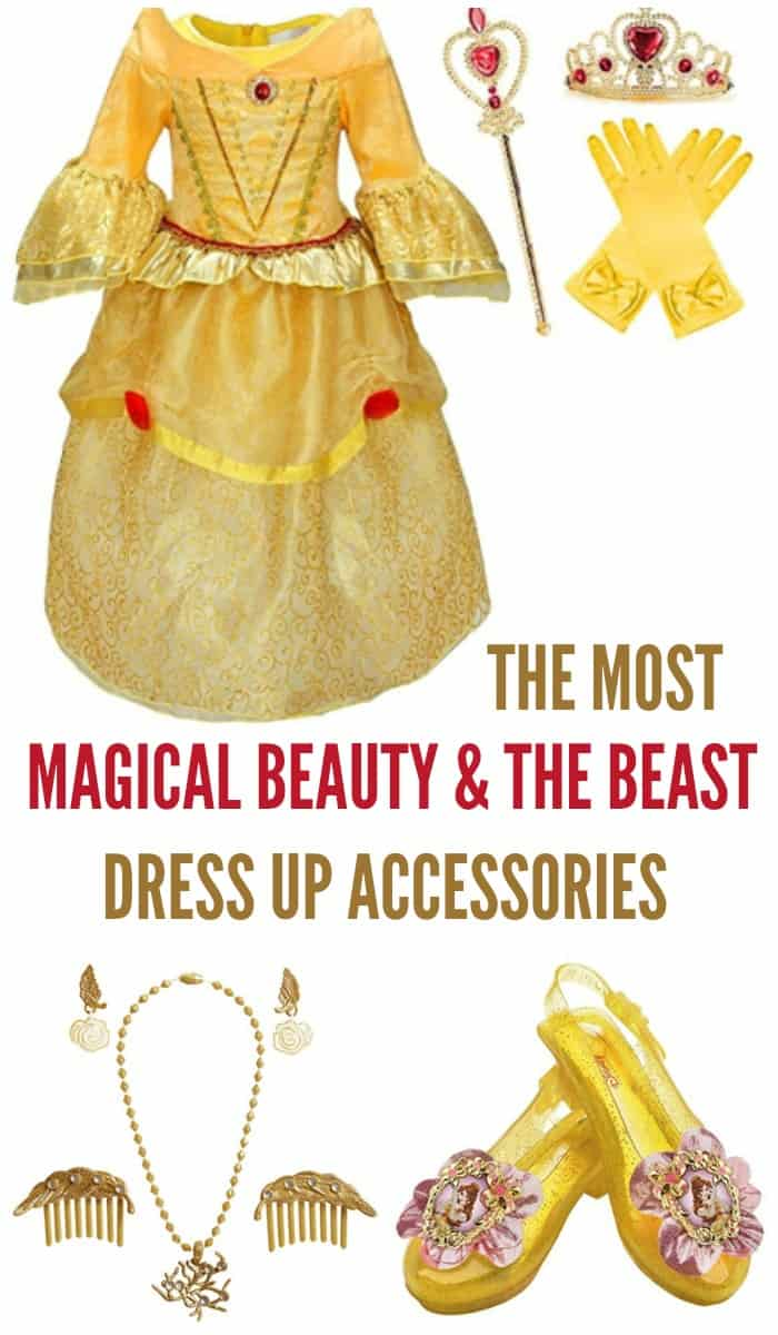 Stock up on these Disney Princess Belle accessories and make your child's dress up time even more magical!