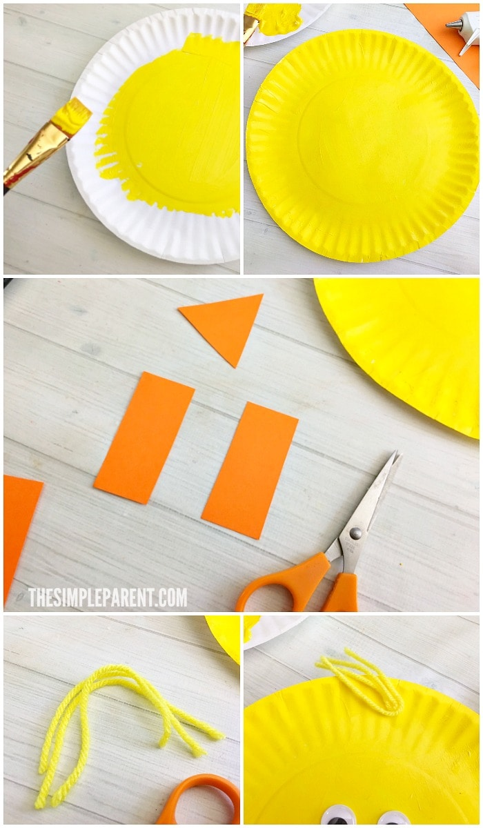 construction paper chick craft easy paper plate easter craft for to make the 3681