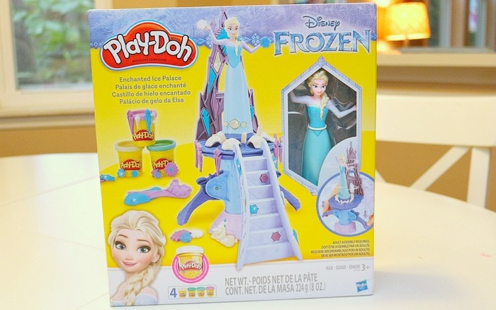 The cold never bother us anyway with this Play-Doh Frozen Ice Palace toy!