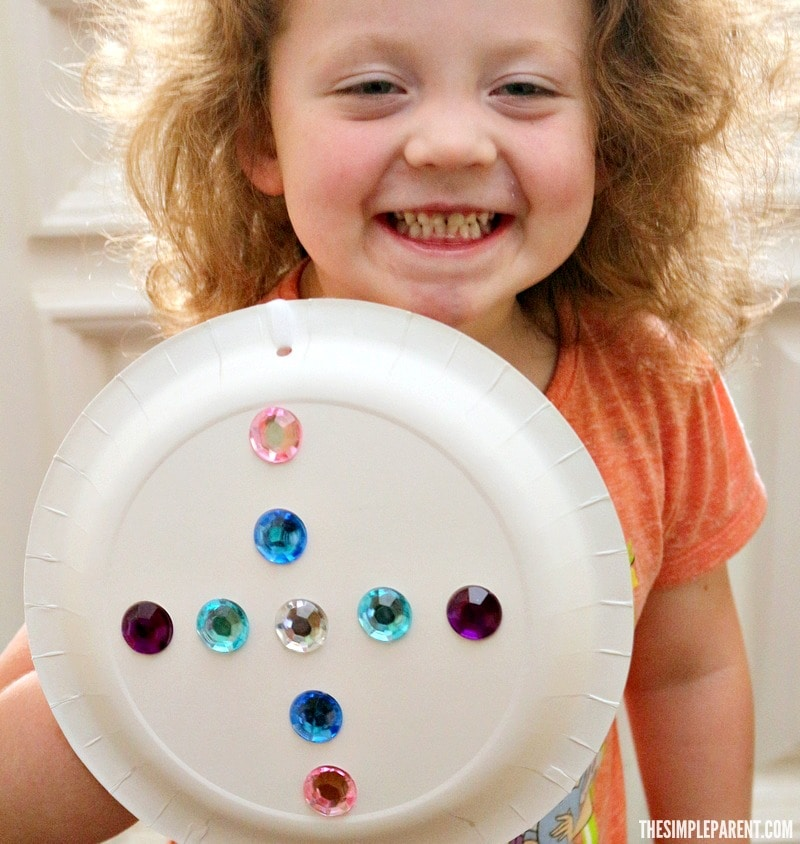 Make a kids knight shield craft with a paper plate!