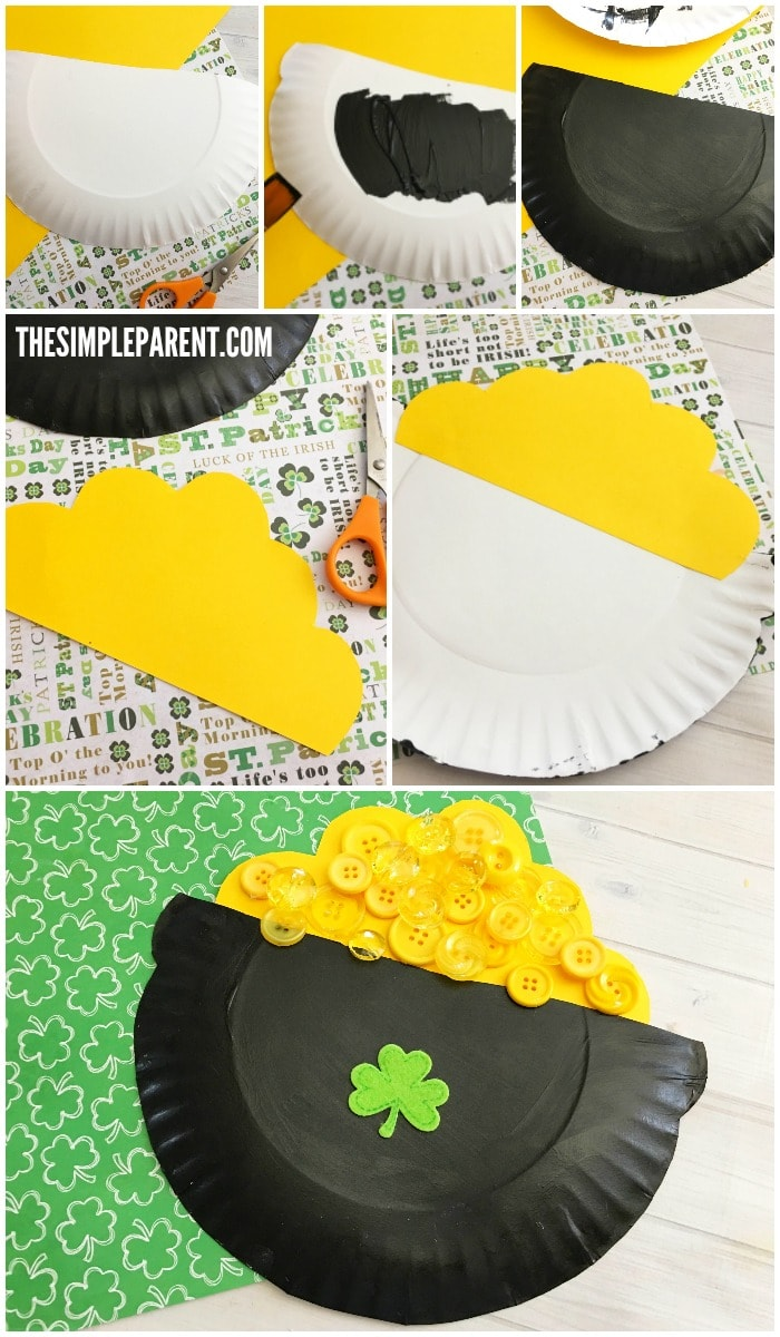 Learn how to make a Leprechaun Pot of Gold craft for St. Patrick's Day!