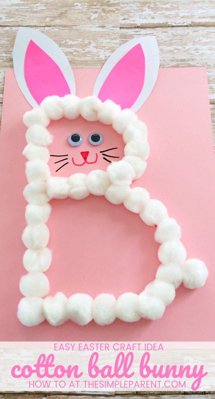 Easter Bunny Craft - This preschool letter B craft is perfect for learning the alphabet and for celebrating Easter! You can make this easy Easter craft with your kids this year!