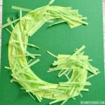 Preschool Letter G Craft: G is for Grass to Celebrate Spring!