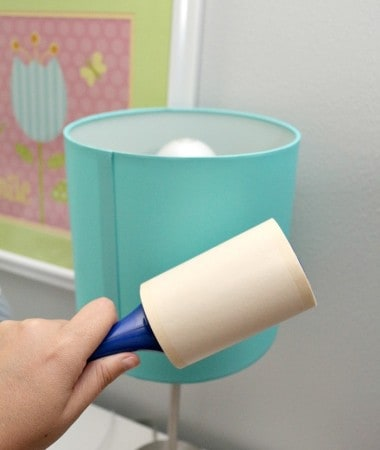 One of our favorite lint roller hacks is dusting everything with ease!