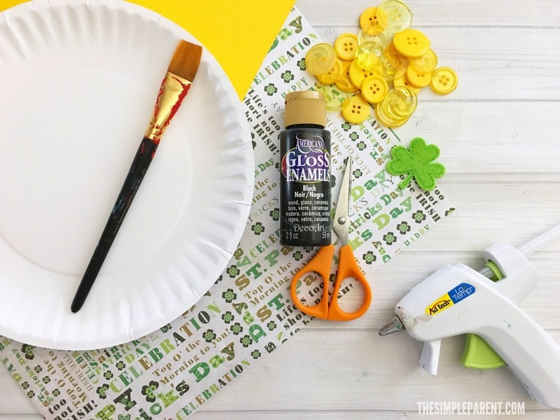 Check out the materials you need to make Pot of Gold Craft with your kids!