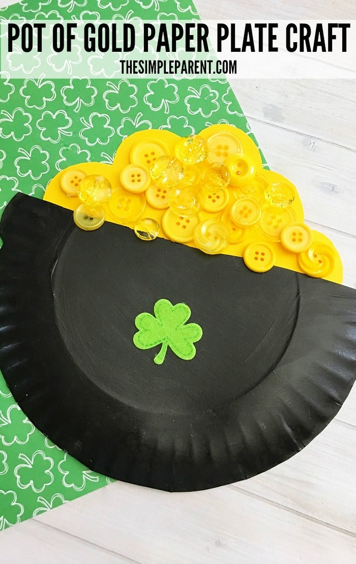 Make this easy and fun Pot of Gold Craft for Kids to celebrate St. Patrick's Day!