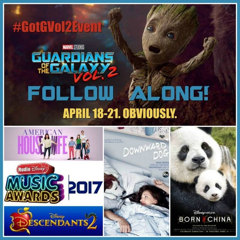 Follow along on #GotGVol2Event for Guardians of the Galaxy Vol. 2 coverage and more!