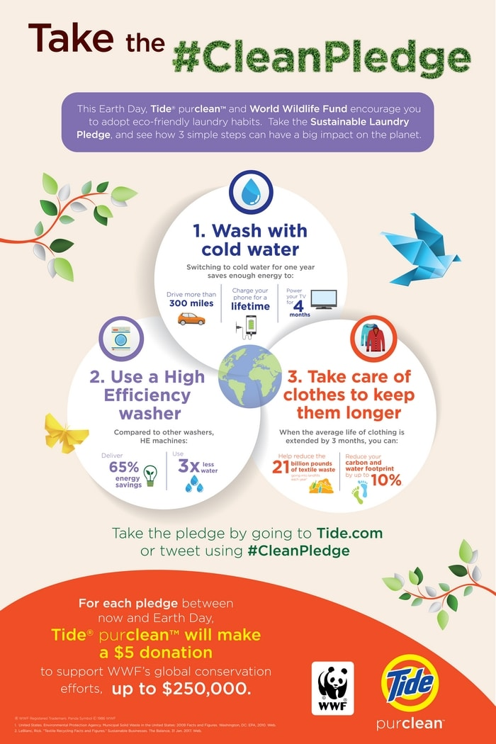Join Tide purclean and World Wildlife Fund and take the #CleanPledge!