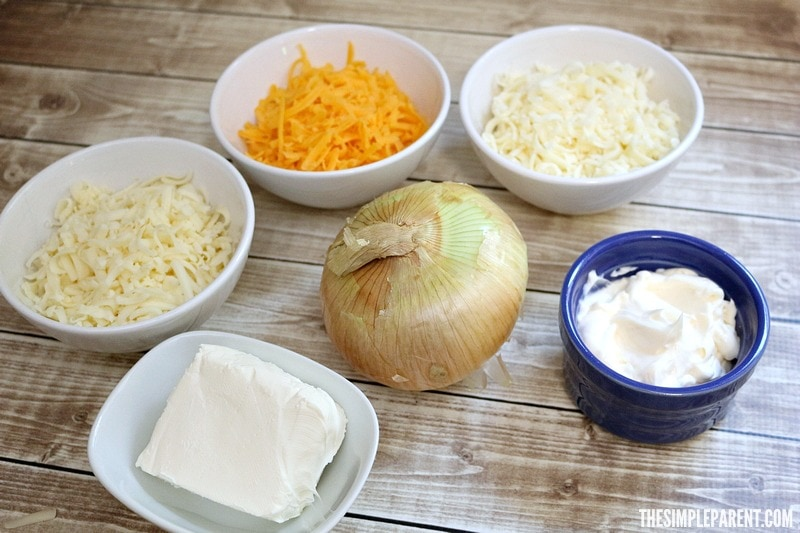 Check out what you need to make this easy baked onion dip recipe!
