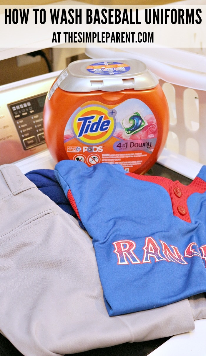 Get some easy baseball mom tips for taking care of sports uniforms!