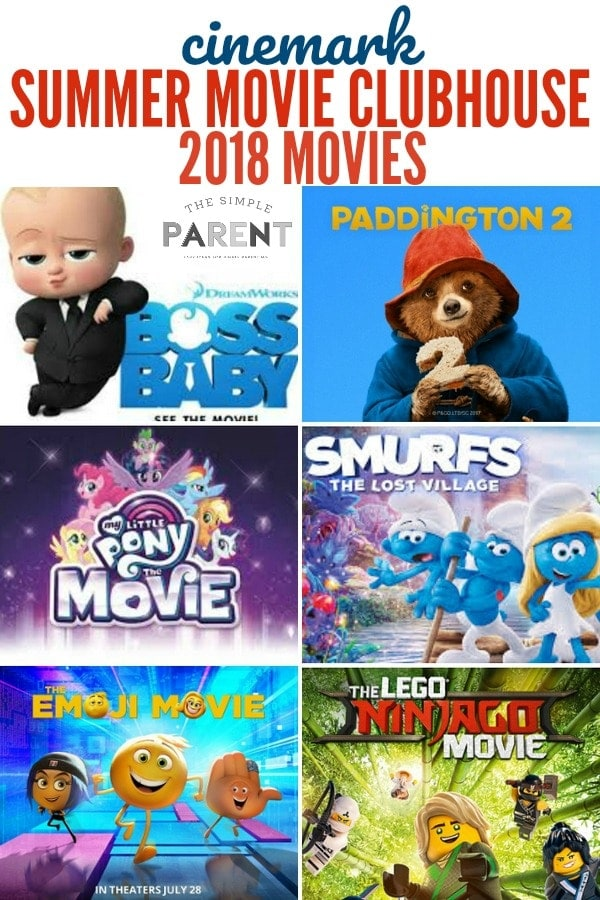 CInemark Summer Movie Clubhouse Movies Poster