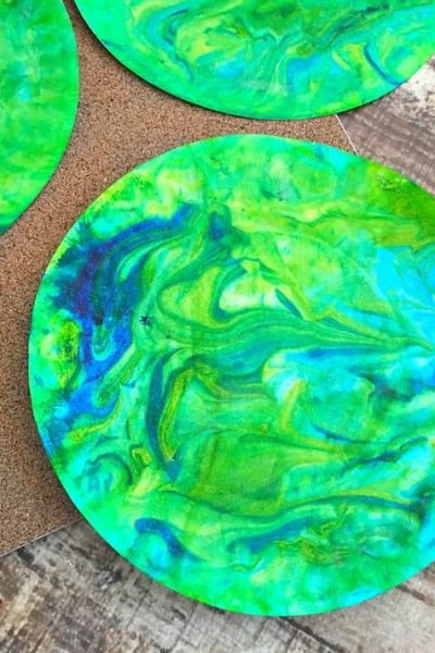Shaving Cream Painting Craft for Earth Day Helps Kids Create Their Own World