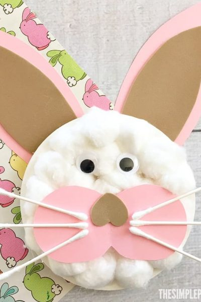 Make your own Easter Bunny Paper Plate Crafts with your kids!