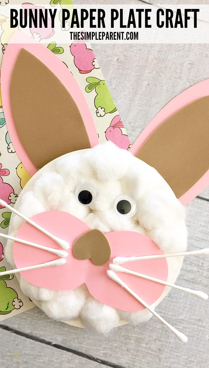 Easter Bunny Paper Plate Crafts are a fun way to celebrate with your kids!