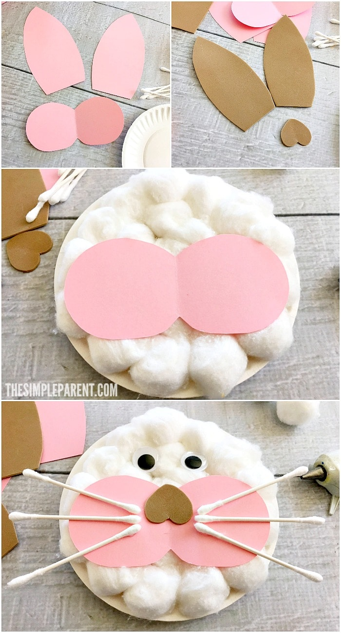 How to make Easter Paper Plat Crafts! Make your own Easter Bunny!