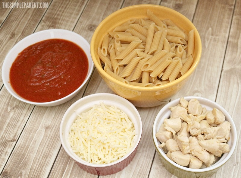 Check out what you need to make easy chicken penne pasta!