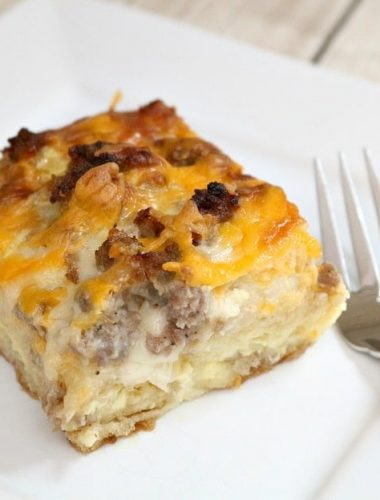 English Muffin Egg Casserole is an easy breakfast or brunch recipe!