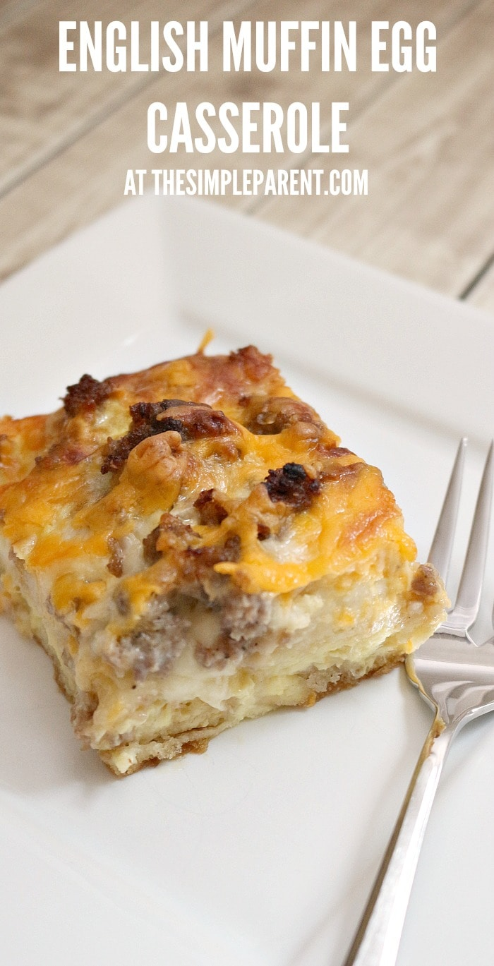 Make English Muffin Egg Casserole for brunch with the ones you love!