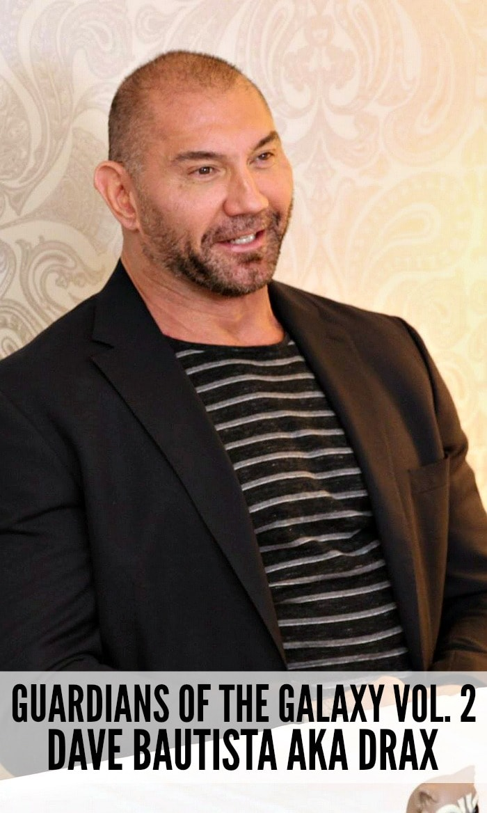 Chatting about Guardians of the Galaxy Vol 2 Drax with Dave Bautista
