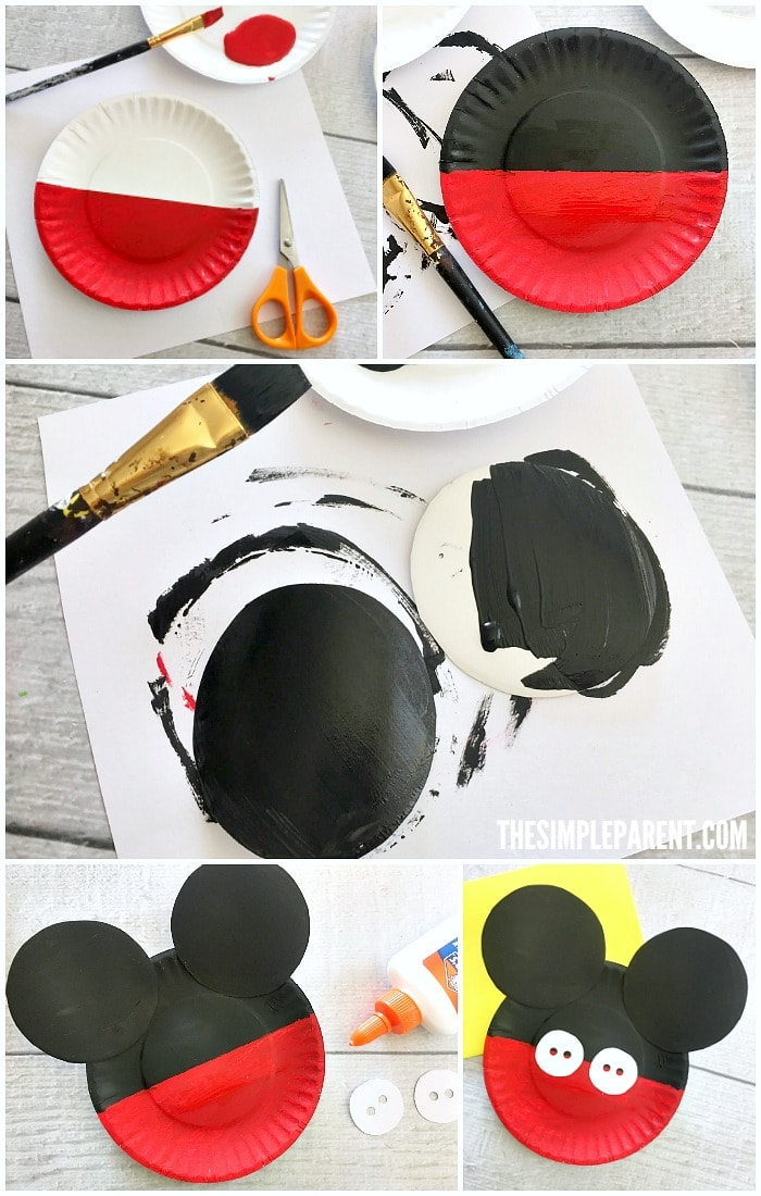 Learn how to make a Mickey Mouse Paper Plate Craft with your kids!