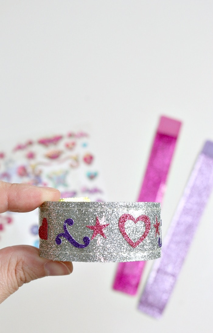 Check out a finished bracelet from our kids bracelet making kit from Melissa & Doug!