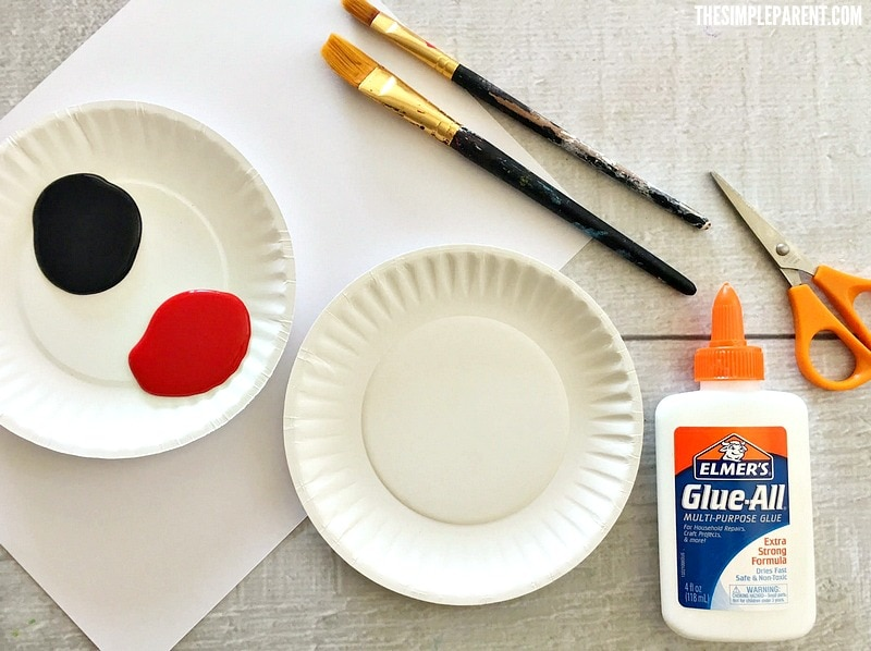 Check out what you need to make Mickey Mouse paper crafts with your kids!
