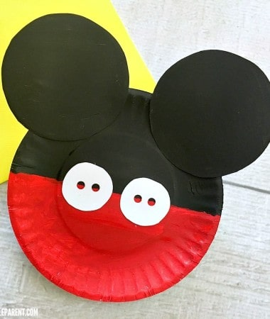 Make a Mickey Mouse Paper Plate Craft with your favorite Disney fan!