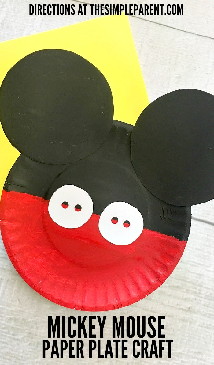 Make this fun Mickey Mouse Paper Plate Craft with your Disney loving family!