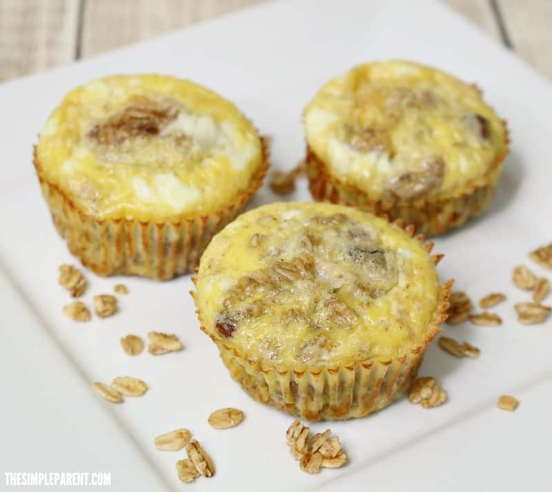 Try this delicious muffin cup egg bake with granola!