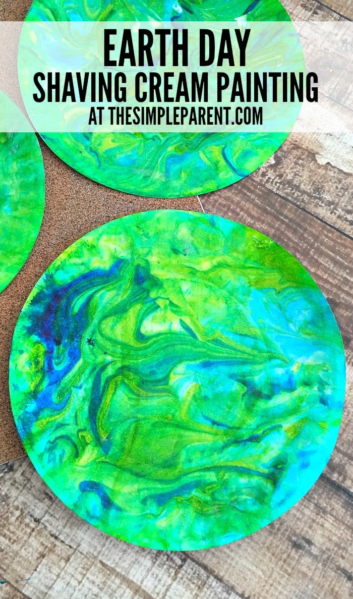Celebrate the Earth with this fun shaving cream painting craft!