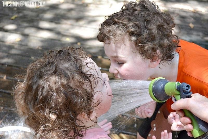 Backyard summer fun for kids starts with a little bit of water!