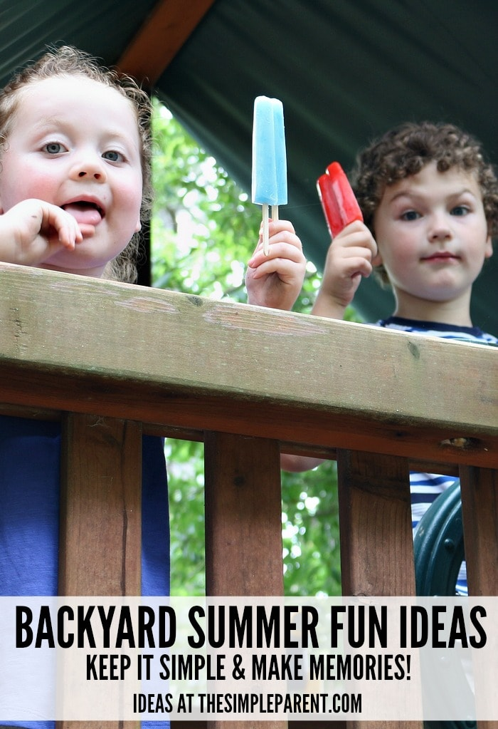 Check out our ideas for making backyard summer fun for kids easy this year!
