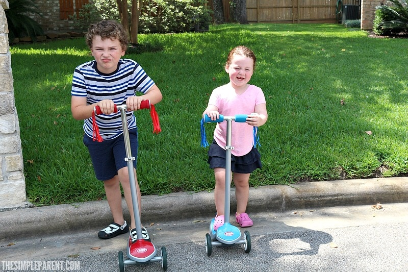 Play scooter games like relay races with your kids for easy fun!