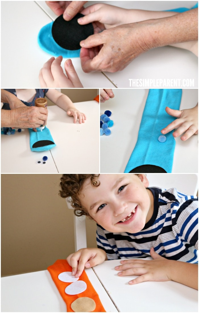 Follow these easy sock puppet instructions!