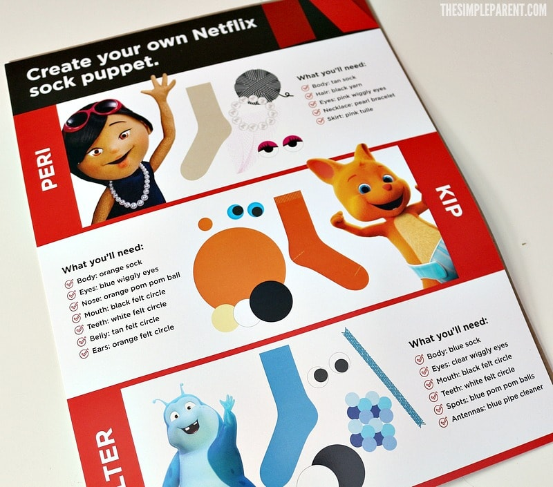 Make a sock puppets craft with inspiration from Netflix!