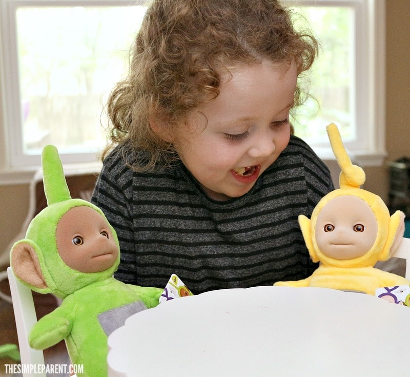 Talking Teletubbies Toys are a hit with the Teletubbies Big Hugs DVD!