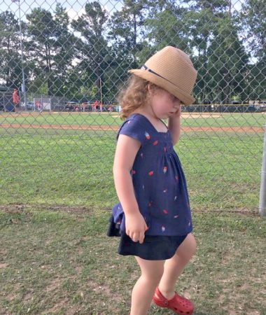 Letting our three-year-old dress herself is an interesting thing but it's one of her developmental milestones!