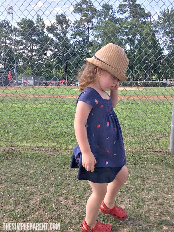 Letting our three year old dress herself is an interesting thing but it's one of her developmental milestones!