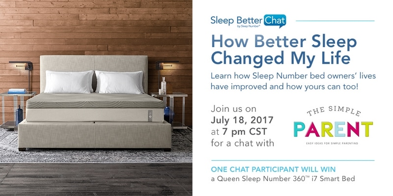 Join me for the #SNSweepstakes Sleep Number Twitter Party on 7/18!