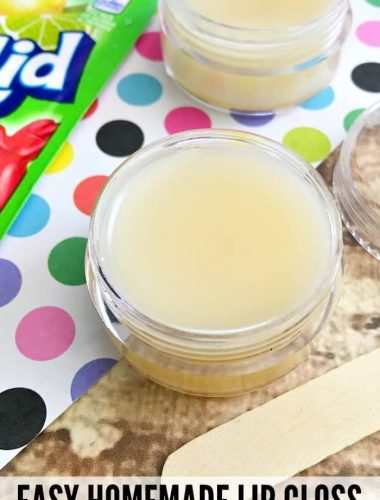 Try making this homemade lip gloss kids love to customize!