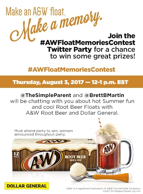 Join us for the #AWFloatMemoriesContest Twitter Party on 8/3!