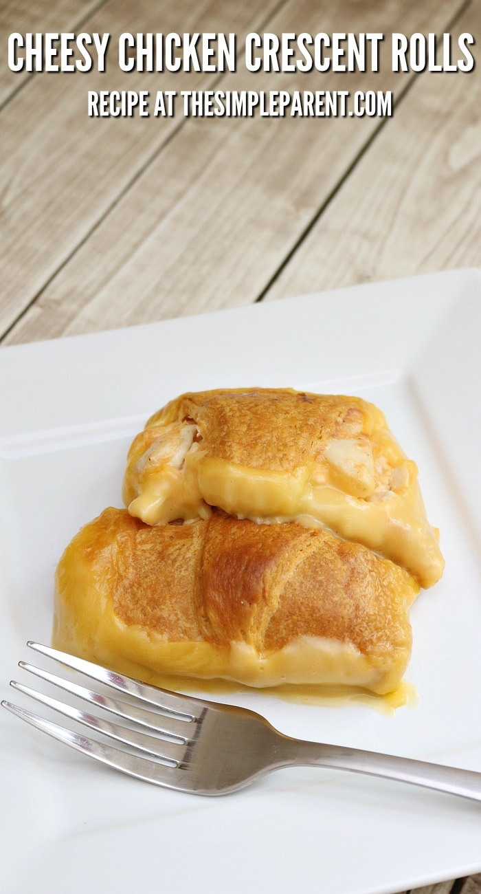 Need an easy dinner idea to enjoy with your family? Make a Cheesy Chicken Crescent Roll Bake tonight!