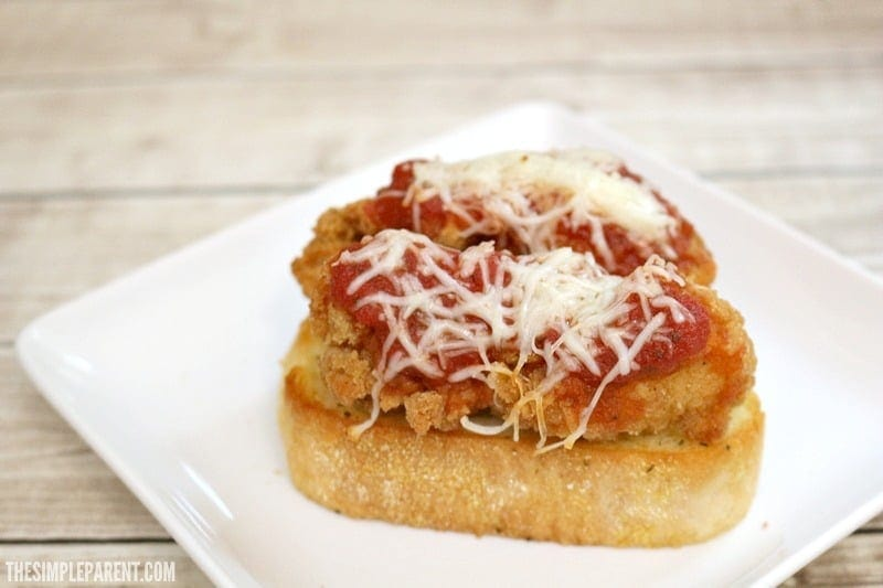 Make this easy chicken parmesan sandwich recipe for your family on busy nights!