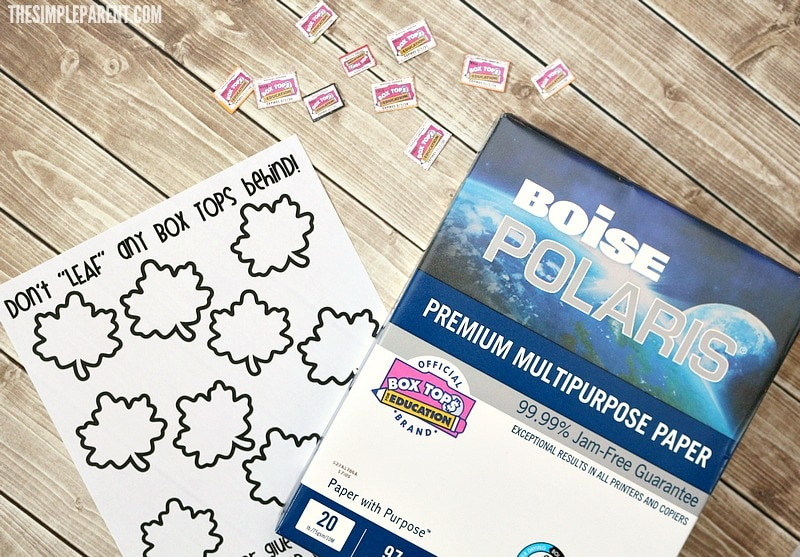 Print your own Box Tops collection forms with Boise paper and support your child's school!